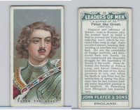 P72-194 Player, Leaders of Men, 1925, #38 Peter The Great, Russia