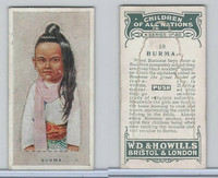 W62-441 Wills, Children of all Nations, 1925, #10 Burma