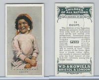 W62-441 Wills, Children of all Nations, 1925, #14 Egypt