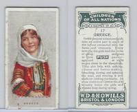 W62-441 Wills, Children of all Nations, 1925, #17 Greece