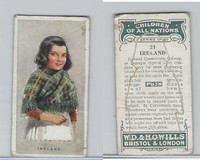 W62-441 Wills, Children of all Nations, 1925, #21 Ireland