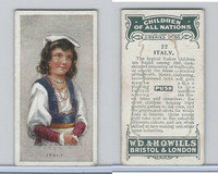 W62-441 Wills, Children of all Nations, 1925, #22 Italy