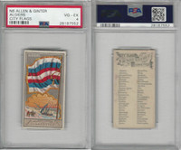 N6 Allen & Ginter, City Flags, 1888, Algiers, PSA 4 VGEX