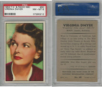 1953 Bowman, TV & Radio Stars NBC, #60 Virginia Dwyer, PSA 8 NMMT