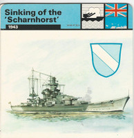 1977 Edito-Service, World War II, #01.09 Sinking of the Scharnhorst