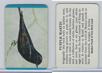 F279-3 Quaker, Pack-O-Ten Bird Cards, 1957, Purple Martin