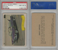1975 Fleer, Kustom Cars II Sticker, Ada's Lincoln, PSA 8 NMMT
