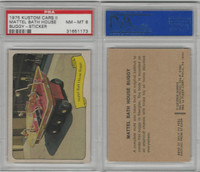 1975 Fleer, Kustom Cars II Sticker, Mattel Bath House Buggy, PSA 8 NMMT
