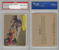 "1975 Fleer, Kustom Cars II Sticker, Mongrel ""T"", PSA 8 NMMT"