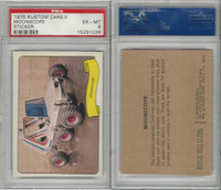 1975 Fleer, Kustom Cars II Sticker, Moonscope, PSA 6 EXMT