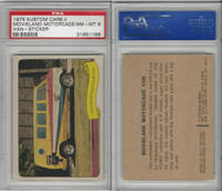 1975 Fleer, Kustom Cars II Sticker, Movieland Motorcade Van, PSA 8 NMMT