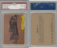 "1975 Fleer, Kustom Cars II Sticker, Twister ""T"", PSA 6 EXMT"