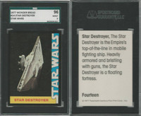 1977 Wonder Bread, Star Wars, #14 Star Destroyer, SGC 96 Mint