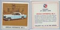 UO63 BA Oil, Gallery of Great Cars, 1967, Lincoln Continental MK II