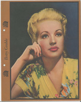 F5-7 Dixie Cup, Premium, 1941, Movie Stars, Betty Grable