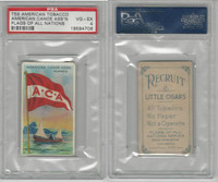 T59 American Tobacco, Flags of all Nations, 1910, American Canoe, PSA 4 VGEX