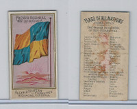 N10 Allen & Ginter, Flags of all Nations, 1890, French Colonial West Indian
