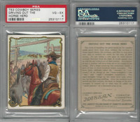 T53 Hassan Cigarettes,  Cowboy Series, 1910, Driving out Horse, PSA 4 VGEX