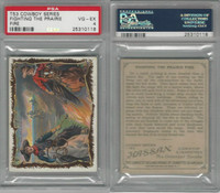 T53 Hassan Cigarettes,  Cowboy Series, 1910, Fighting Prairie Fire, PSA 4 VGEX