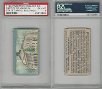 T126 Pinkerton Tobacco, State Capital Buildings, 1910, Maine, PSA 6 EXMT