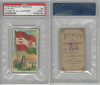 T59 American Tobacco, Flags of all Nations, 1910, Austria, PSA 1 MK