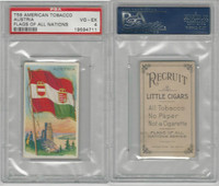 T59 American Tobacco, Flags of all Nations, 1910, Austria, PSA 4 VGEX