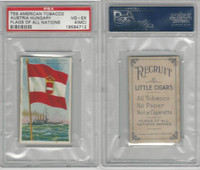 T59 American Tobacco, Flags of all Nations, 1910, Austria Hungary, PSA 4 MC