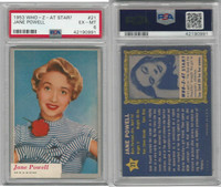 1953 Topps, Who-Z-At Star?, #21 Jane Powell, PSA 6 EXMT