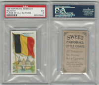 T59 American Tobacco, Flags of all Nations, 1910, Belgium, PSA 5 EX