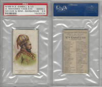 N189 Kimball, Savage & Semi-Barbarous Chiefs, 1890, A. Mahomed, PSA 2.5