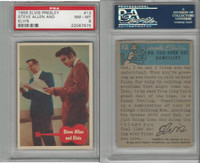 1956 Bubbles Inc, Elvis Presley, #13 Steve Allen And Elvis, PSA 8 NMMT