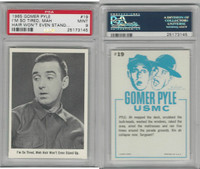 1965 Fleer, Gomer Pyle, #19 I'm So Tired, Mah Hair Won't, PSA 9 MInt