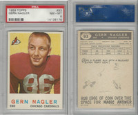1959 Topps Football, #93 Gern Nagler, Chicago Cardinals, PSA 8 NMMT
