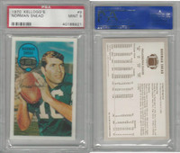 1970 Kelloggs Football, #9 Norman Snead, Eagles, PSA 9 Mint