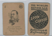 K Card Lion Coffee, Politicians, 1905, #N5 King Edward VII, England