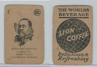 K Card Lion Coffee, Politicians, 1905, #N7 King Edward VII, England