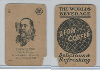 K Card Lion Coffee, Politicians, 1905, #N8 King Edward VII, England