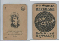 K Card Lion Coffee, Politicians, 1905, #N9 Emperor Wilhelm II, Germany