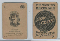 K Card Lion Coffee, Politicians, 1905, #N12 Emperor Wilhelm II, Germany