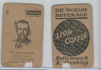 K Card Lion Coffee, Politicians, 1905, #N20 Emperor Nicholas II, Russia