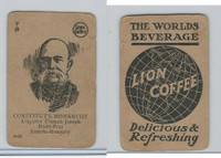 K Card Lion Coffee, Politicians, 1905, #N26 Francis Joseph, Austria-Hungary