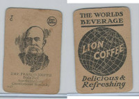 K Card Lion Coffee, Politicians, 1905, #N27 Francis Joseph, Austria-Hungary