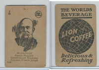 K Card Lion Coffee, Politicians, 1905, #N28 Francis Joseph, Austria-Hungary