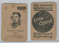 K Card Lion Coffee, Politicians, 1905, #N35 Mikado Mutsuhito, Japan