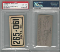 R19-3 Goudey, Auto License Plates Card, 1938, Texas, PSA 8 NMMT