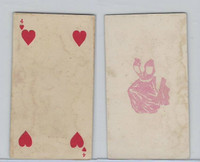 N233 Kinney, Transparent Playing Cards, 1888, Blank Back, Heart 4