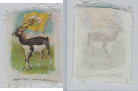 SC1 ITC Silk, Animal & Flag, 1910, Blackbuck, United Provinces