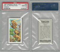 B0-0 Barratt, Tarzan, 1967, #25 Idol's Destruction, PSA 10 Gem