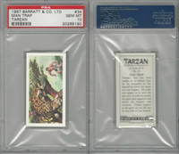 B0-0 Barratt, Tarzan, 1967, #34 Man Trap, PSA 10 Gem