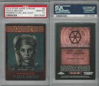 2015 Topps, Star Wars Chrome Perspectives, #5 Aayla Secura, PSA 10 Gem